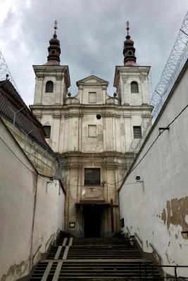 Foto: Dana Duchoslavová - Kostol Všetkých svätých spojený múrmi s Ústavom na výkon trestu odňatia slobody a Ústavom na výkon väzby v Ilave